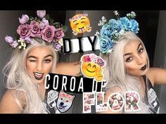 DIY: Como fazer arquinho/coroa (tiara) de flor (estilo Lana Del Rey) - Camila Carregal - YouTube