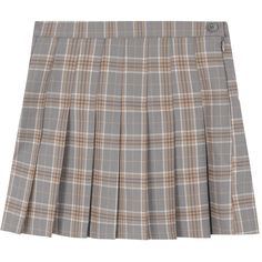 Classic Plaid Pleated Mini Skirt ($38) ❤ liked on Polyvore featuring skirts, mini skirts, bottoms, high-waist skirt, short pleated skirt, high-waisted skirts, pleated skirt and short skirts