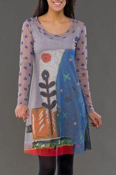 Robe Maille Signes Particuliers Aventures des Toiles - Robes courtes - Robes - Femme - Tealuna