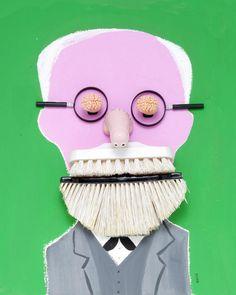 Sigmund Freud - Hanoch Piven Illustration