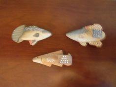 Set of Three Hand Made  Fish Wood Hooks Hand by josephine7075, $14.99