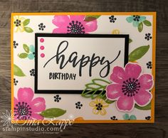 Pretty Perennials One Sheet Wonder Cards - Stampin' Studio One Sheet Wonder, Perennials, Stampin Up, Birthday Cards, Card Making, About Me Blog, Templates, Studio, Pretty