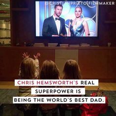 Watch this video for endless cuteness of Chris Hemsworth as a dad.