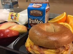 Students in Martin County enjoyed bacon, egg and cheese sandwiches served on a bagel with fresh fruit and milk.