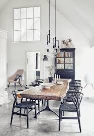 Image result for black, white, wood dining room