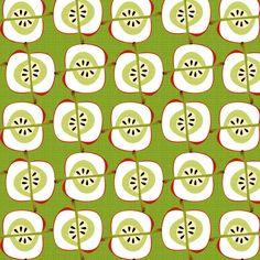 apple weaves fabric by glimmericks on Spoonflower - custom fabric