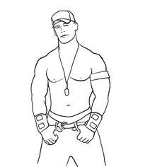 John Cena Coloring Sketch Free Download Colorasketch