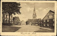 Ak Wermelskirchen im Bergischen Land, Partie am Markt, Kirche - 10000533