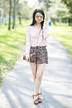 Transition: Blush Pink & Leopard Shorts #ootd