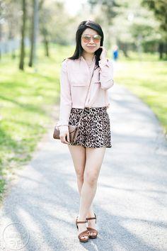 Transition: Blush Pink & Leopard Shorts #ootd