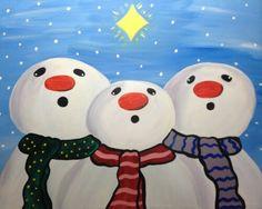 Stargazing Snowmen