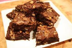 Walnut Fudge Brownies - These are not only delicious - but health low fat too, my husband loves them. Bake them TODAY if you want to get your hubby to finally get around to the decorating LOL