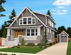 Tiny Bungalow House Plan - 85058MS | Bungalow, Cottage, Country, Narrow Lot, 2nd Floor Master Suite, CAD Available, Den-Office-Library-Study, Loft, PDF | Architectural Designs