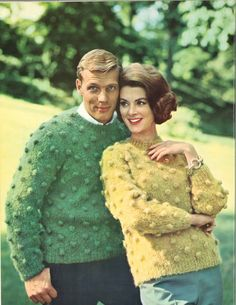 Pop & Dot • 1960s Pullover Sweater Patterns • 60s Vintage Bobble Bobbles Knitting Jumper Pattern • Retro Knit PDF by TheStarShop on Etsy
