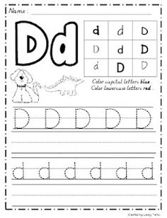 Free handwriting sheets for each letter!