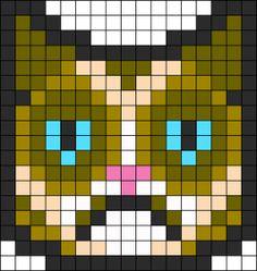 Grumpy Cat perler bead pattern
