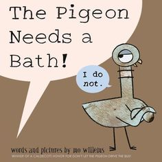 Happy Anniversary to a very special Pigeon created by Mo Willems. Did you know that Mo Willems has published a new Pigeon book? The adorable little pigeon needs a bath in this new story. Mo Willems, New Books, Good Books, Pigeon Books, Thing 1, Author Studies, This Is A Book, Children's Picture Books, 10 Picture