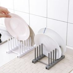 2019 NEW Foldable Plastic Dish Drainer Plate Pot Lid Dish Drying Rack Kitchen Organizer Creative Kitchen Storage Tools Specification: Material: ABS Size: as picture Color: gray, white Package Included: 1 x Dish Drainer Dish Storage, Plate Storage, Plate Racks, Dish Racks, Storage Shelves, Silverware Storage, Pot Rack, Kitchen Shelves, Kitchen Storage