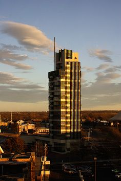 Price Tower at sunset - Frank Lloyd Wright