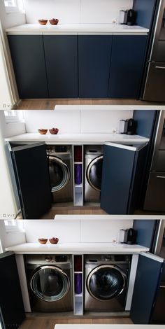 laundry room design ideas that are clever and space-saving ., # space-saving laundry room design ideas that are clever and space-saving ., laundry room design ideas that Storage Room, Room Design, Laundry Mud Room, Pantry Laundry, Room Remodeling, Hidden Laundry, Outdoor Laundry Rooms, Laundry, Space Saving