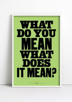 anthonyburrill:    WHAT DO YOU MEAN - Woodblock print -2012