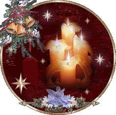 Christmas - Candles, Angel and bells Xmas Gif, Merry Christmas Gif, Christmas Candles, Cozy Christmas, Merry Christmas And Happy New Year, Christmas Time, Christmas Bulbs, Christmas Decorations, Holiday Decor