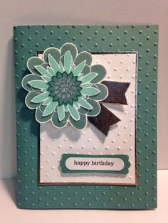 Flower Patch, Birthday Cards, Stampin' Up!, Rubber Stamping, Handmade Cards
