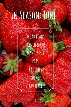 Enjoy fruit and vegetables at their best and save money by eating seasonally. Here's what's in season in June.
