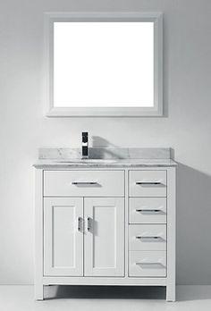 "larissa"" vanity | rona $417 | basement reno. | pinterest"