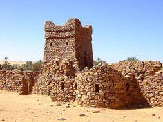 The restored minaret at Ouadane, Mauritania
