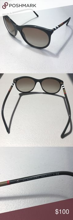 AUTHENTIC Burberry Sunglasses Worn a few times, have a couple scratches on the lenses, but otherwise in great condition! I bought them online (Sunglass Hut) but I don't like how they look on me, only reason I'm selling! Olive green. Model B 4145 3392/8E. Size 55. Don't have the original case, but I'll put them in this authentic Versace one 😊 All reasonable offers welcome 💕 Burberry Accessories Sunglasses