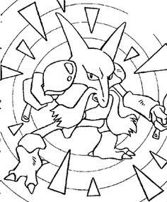 Pokemon kadabra coloring pages