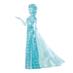 Enchant and entertain family and guests with this Disney Elsa 32-piece three-dimensional crystal puzzle. Once assembled, the interlocking translucent blue pieces form Elsa from Disney's 'Frozen', to t