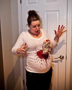 Pregnant Maternity Halloween Costume Alien Belly Burster I love my wife!