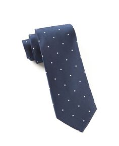 SATIN DOT TIES - CLASSIC NAVY | Ties, Bow Ties, and Pocket Squares | The Tie Bar