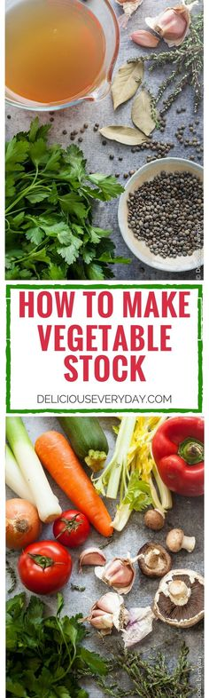 Save money by making your own delicious vegetable stock. It's easy! Not only cheaper than store bought but tastes so much better.  via @deliciouseveryday