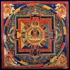 Mandala of Amitayus (Amitabha/Amida Buddha). Unknown Tibetan artist, 19th century. Now in the Rubin Museum of Art