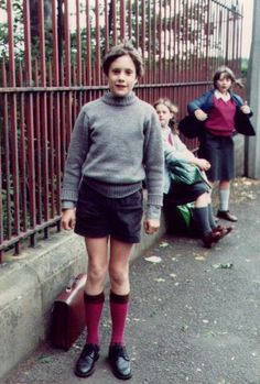 On his way  1970 to school (UK)