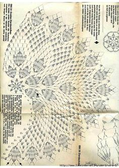 Photo - Her Crochet Filet Crochet, Crochet Doily Diagram, Crochet Doily Patterns, Crochet Chart, Lace Patterns, Thread Crochet, Crochet Motif, Crochet Designs, Crochet Stitches