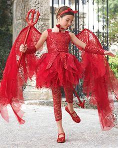 Sweet devil girl costume.