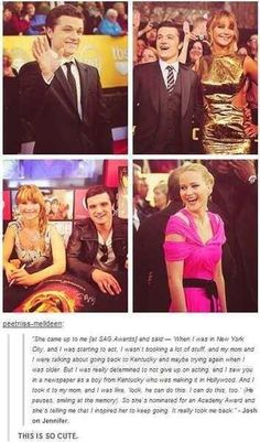 Josh Hutcherson on how he inspired Jennifer Lawrence <3