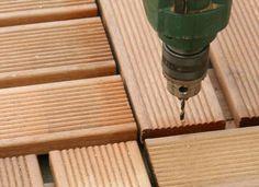 Holz vorbohren