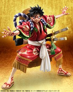 """Crunchyroll - """"One Piece"""" Luffy Gets Kabuki Costume Figure for July Release"""