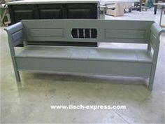 Brocante klepbank keukenbank grijs 150 180 200 220 en 250 cm