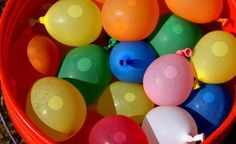 Simple Summer Baby Shower Ideas - including water balloons for a game of Don't Break the Water