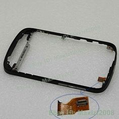 Black New Front Bezel Housing Middle Frame + Flex Cable Fix For BlackBerry Q10