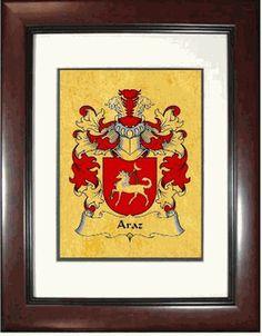 Araz Family Crest Print $14.99