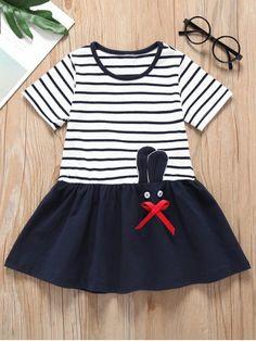 Dream Room Dresses Toddler Infant Kids Baby Girls Longsleeve Striped Cartoon Animal Owl Print Dress Clothing