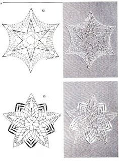 Google+ Bobbin Lace Patterns, Lacemaking, Fabric Crafts, Snowflakes, Christmas Decorations, Tapestry, Embroidery, Cool Stuff, Knitting