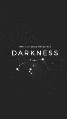 Estrela não pode brilhar sem a escuridão